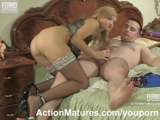 d like to fuck in darksome stockings seduces a boy