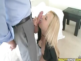 blond sexpot, brooke tyler, gets her muff pounded