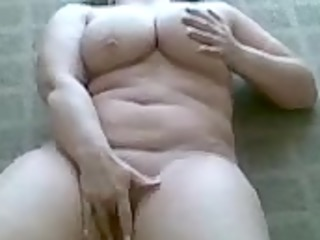 wife playing on web camera phone