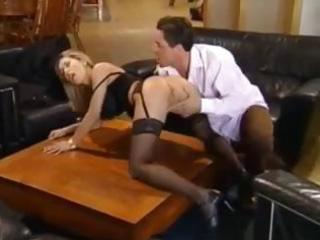 wicked blonde mommy has a fierce quickie on the