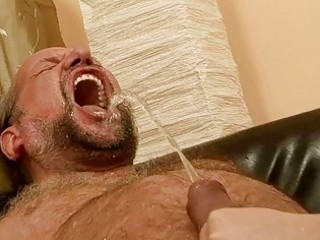 grandad fucking and pissing on nasty redhead