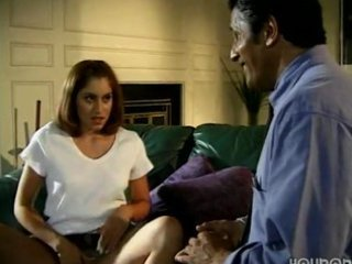 daughter enticed old daddy in absence of mommy