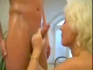 blond older mama drilled in the bathroom