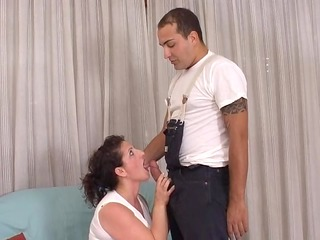 milf pays the plumber