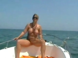 exposed stepmom at the boat