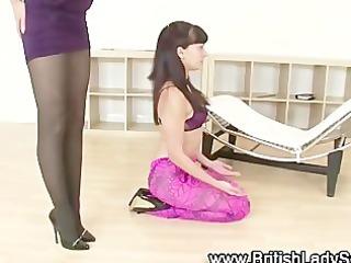 lady sonia acquires coarse on bare slut
