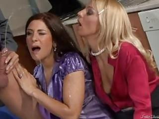 nasty milfs in hawt peeing trio scene!