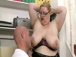 mean big beautiful woman boss takes advantage of