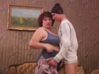 fat mature housewife catches thief and makes him