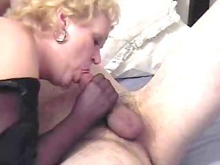 naughty auntie fannys nylon handjob