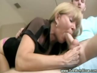 lascivious blonde aged loves slobbing on her