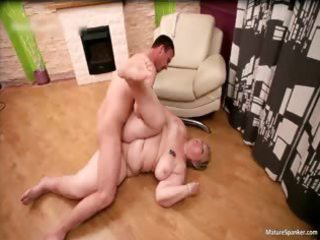 wicked obese golden-haired milf receives spanked