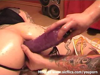 fisting my wifes wazoo and stretching her holes