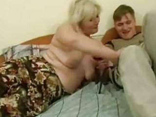 drunk milf tempted by youthful man