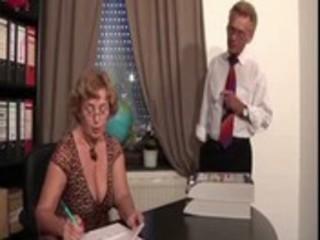 german boss &_ aged secretary