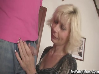 my golden-haired mother in law seduces me into sex