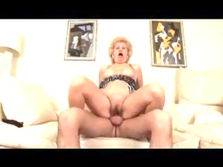 busty bushy golden-haired granny fucks