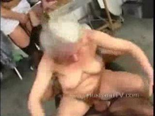 granny threesome! hot