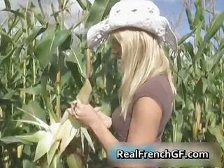 breasty teenage gf cunt gangbanged in corn part11