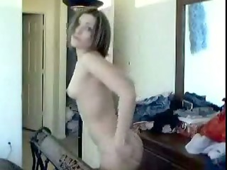 short-haired wife acquires nude