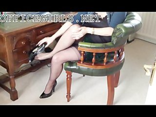 lustful milf slut secretary in fully fashioned