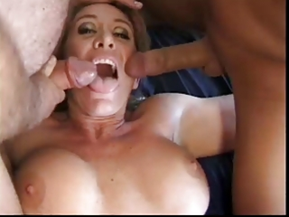 older with large love bubbles receives cocks