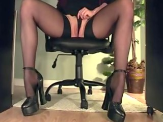 secretary rubbing underneath the desk compilaton