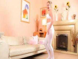 hot mommy in white hose disrobe