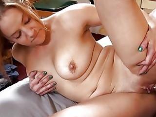 sexy tattooed momma with large bosom sucks hard