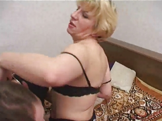 russian guy fucking a mature lady in fur