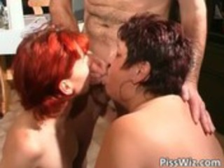 concupiscent aged harlots piss and gets soaked