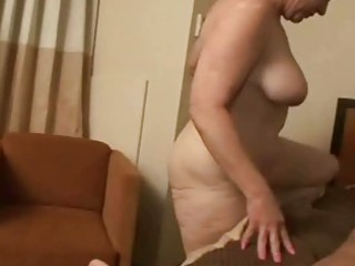 excited granny rides a dong deep in her soaked