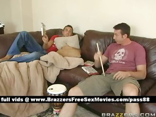 guys at home on the sofa bored