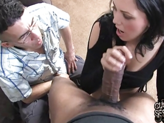 white wife takes giant darksome weenie in front