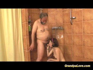 grand-dad fucking a shy but breasty honey at the