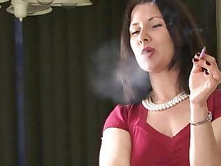 hot smoker milf talks while smokin