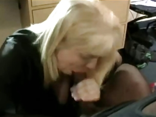 blond mommy in fishnets in hotel bbc romp