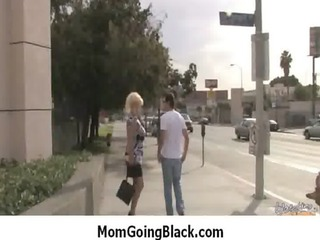 watch my mom whilst is screwed by monster black 10