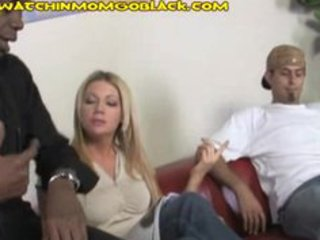 sexy blond mama pays with ir blowjob