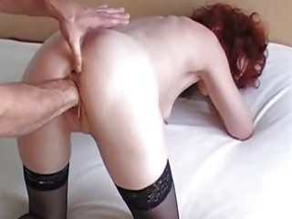 fist fucking my wifes loose cum-hole