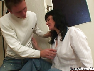 mom in trouble taken home and fucked by a younger