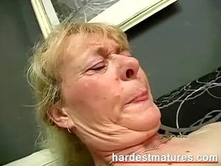 grandma engulfing weenie during the time that