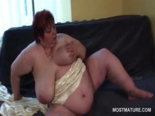 lusty big beautiful woman older toying her