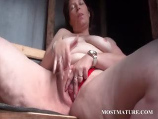 outdoor snatch masturbation with older