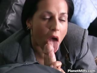 brunette mother i in stockings can part1