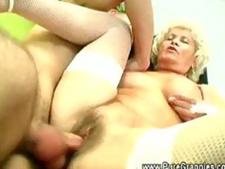 sexually excited grandma banging