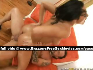 independent brunette hair wife at home on the