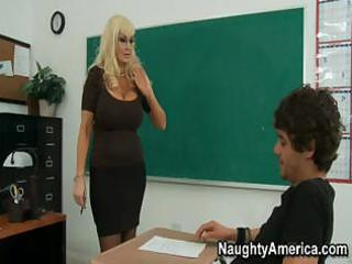 this busty blonde d like to fuck of a teacher