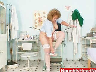 fat old nurse mama acquires naughty in gyn clinic