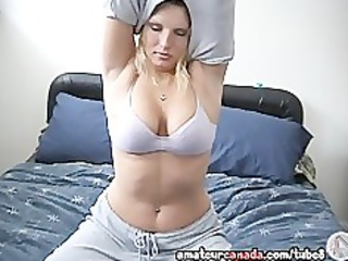 breasty large naturals blond wife fingers her
